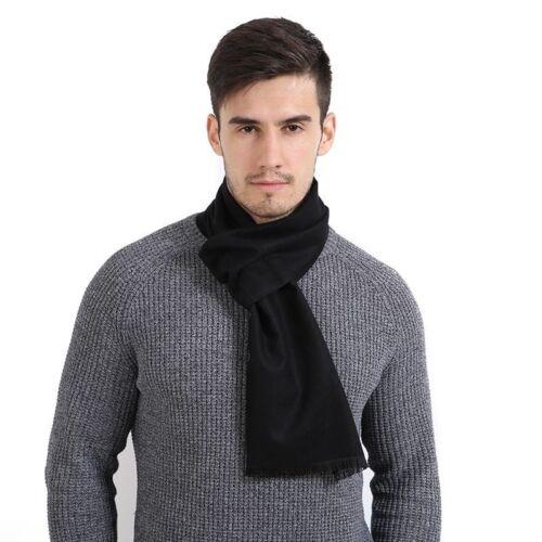 Men/'s Cashmere Scarf Fashion Simple Solide Couleur Echarpes hiver chaud lisse