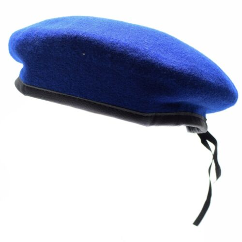 Genuine German army Blue beret Military hat command cap wool quality New