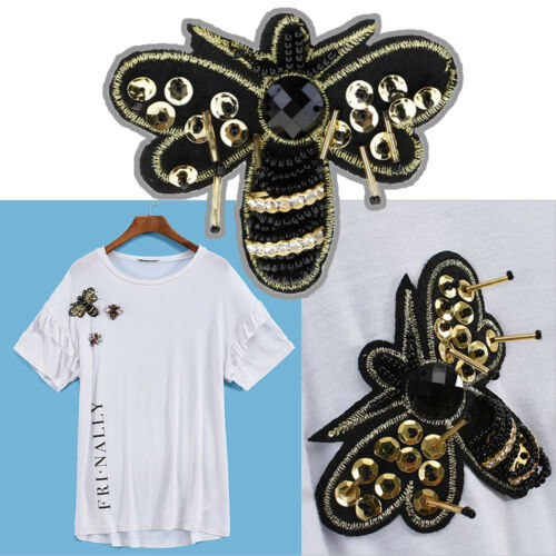 1p Sequins Insect Bird Embroidered Patch Sew Patch DIY Cloth Sticker Badge Decor