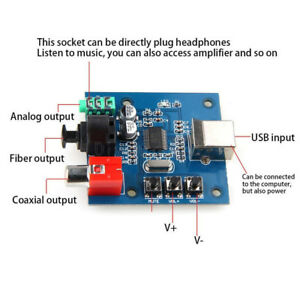 PCM2704-USB-DAC-USB-to-S-PDIF-Sound-Card-Decoder-Board-3-5mm-Analog-Output