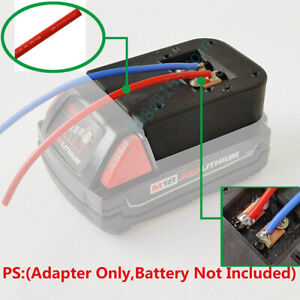 For Milwaukee M18 li-ion Battery Adapter Convert to DIY Connection 2 Line Output