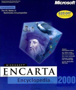 Vintage-Microsoft-Encarta-2000-Software-for-Windows-CD-ROM-2000-in-Retail-Box