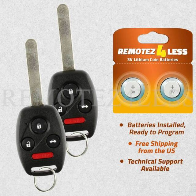 For 2003 2004 2005 2006 2007 Honda Accord Keyless Remote Car Entry Key Fob Pair