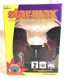 Star-Max-Room-Planetarium-amp-Dual-Projector-With-Audio-Cassette-Vtg-RARE-In-Box