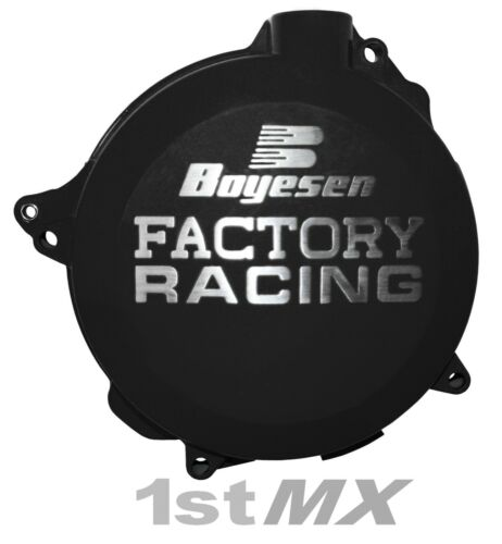 Boyesen Factory Racing Clutch Cover Motocross MX Black Honda CRF 450R 2015