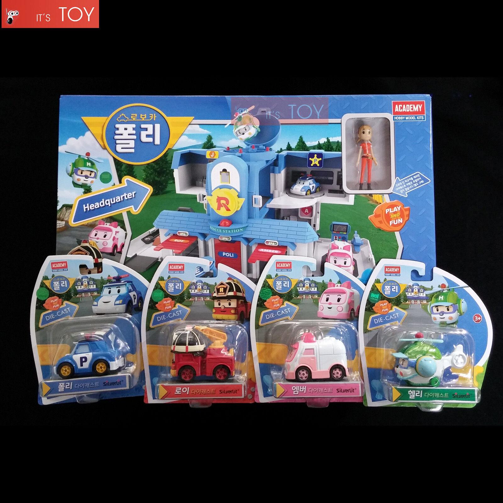 Robocar poli convertible headquarter open play set diecast poli roy amber helly ebay - Robocar poli ambre ...