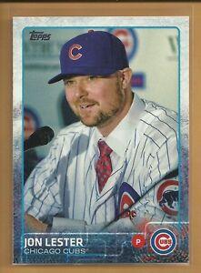 Jon Lester 2015 Topps Series Two Card # 406 Chicago Cubs Baseball sports memorabilia