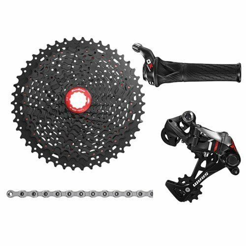 SRAM X01 1x11 Spd Groupset W Sunrace 11-46T Cassette , Grip Shift, rot