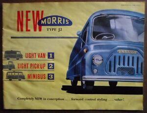 Morris Type J2 Light Van Pick Up Minibus Orig 1958 Uk Mkt Sales Brochure Ebay