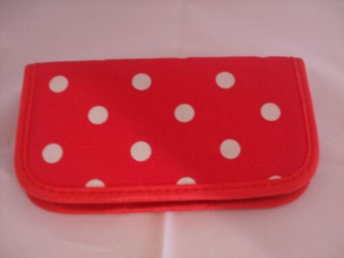 Storage With Style Red Polka Dot Crochet Hook Carry Case With Aluminium Needles