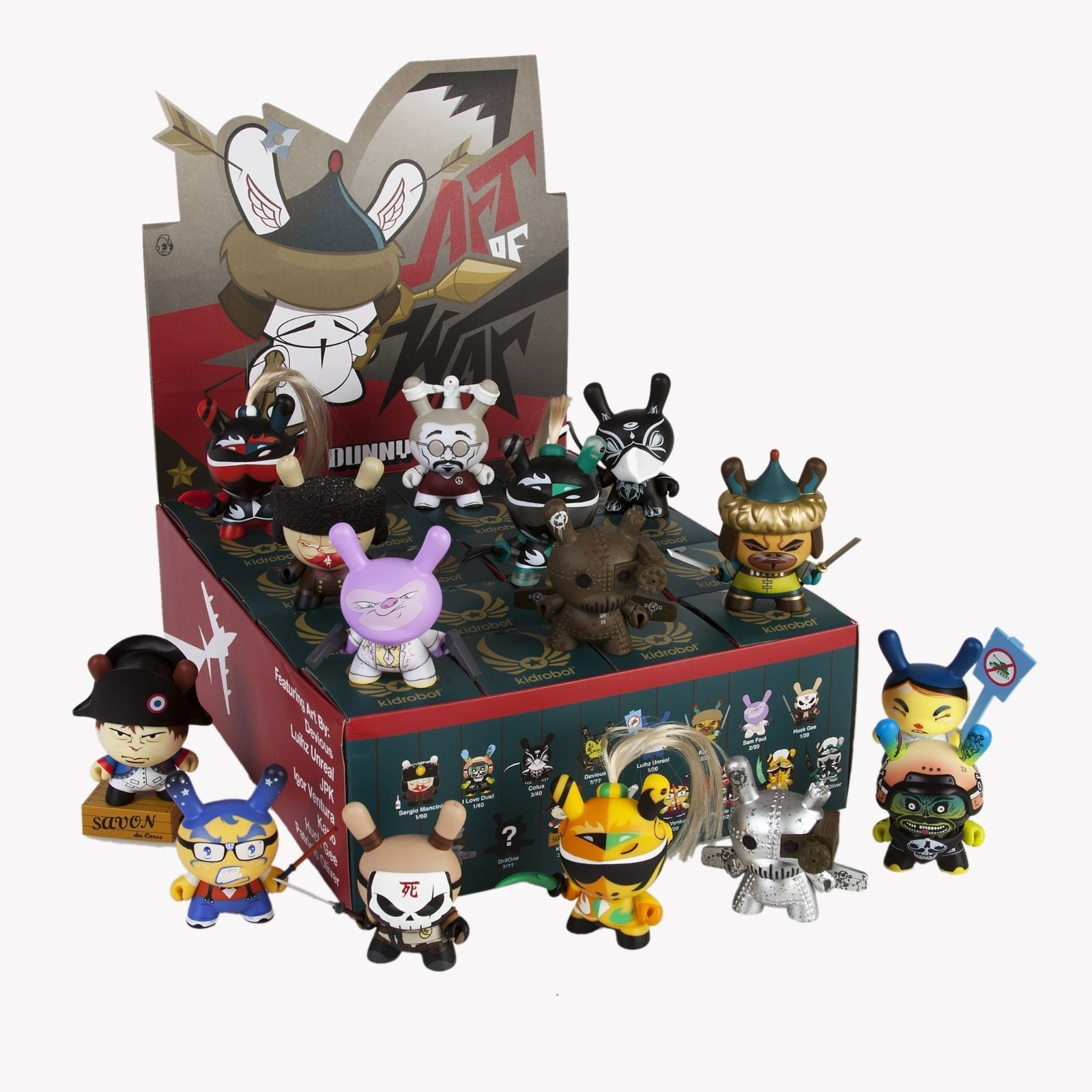 Art of War Master Case    4 Sealed Dunny Series Cases 80 Blind scatolaes - Kidrobot  una marca di lusso