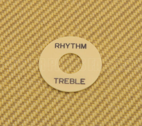 1 Guitar Cream Rhythm//Treble Switch Ring Black Lettering DR-003-02
