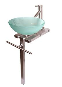 Bathroom Contemporary Bathroom Vanities Pedestal Glass Bowl Vessel