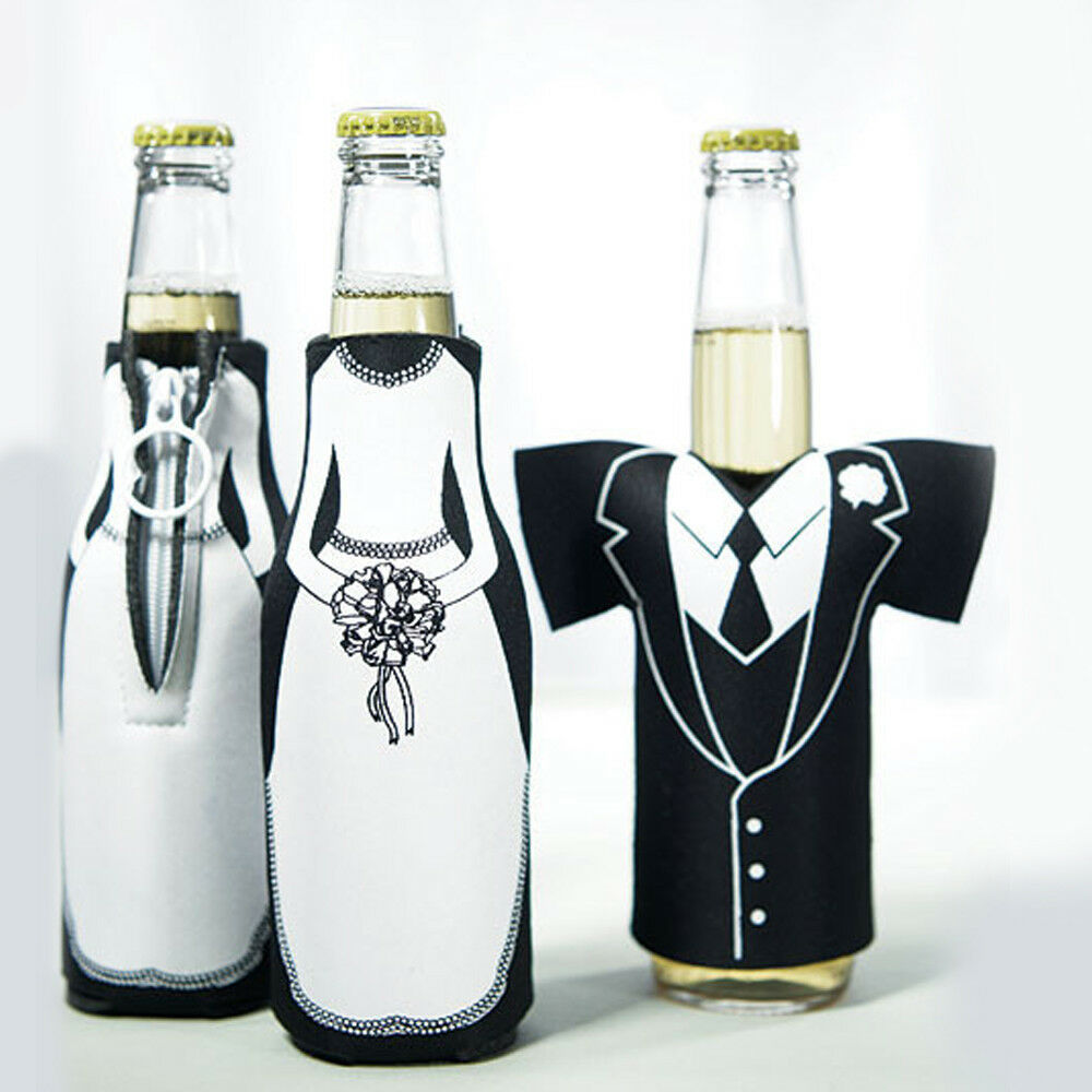 Bottle Holders Braut & Bräutigam 10 Sets Gastgeschenk Hochzeit Flaschenüberzug