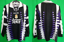 1997-1998 Real Madrid Retro Vintage Jersey Shirt Camiseta Third Teka KELME M L/S