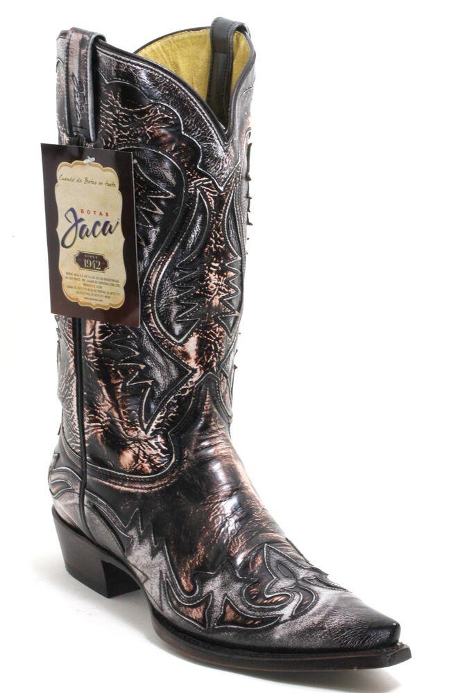167 Bottes De Cowboy Western Texas Catalan Style En Cuir Jaca 40