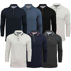 Mens-Polo-Shirt-Brave-Soul-Long-Sleeve-Collared-Top-In-Various-Styles