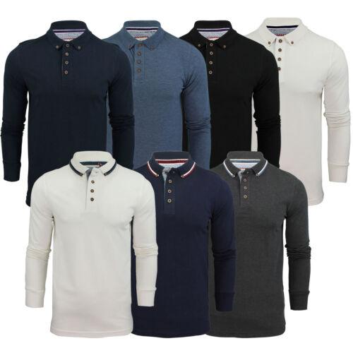 Maglietta Polo Uomo Brave Soul Maglia a maniche lunghe con colletto in vari stili