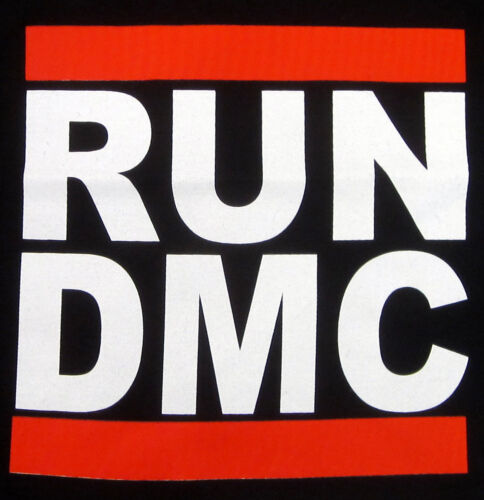 RUN DMC JMJ Retro T-shirt Rap Hip Hop Tee Baby Infant 6M,12M,18M,24M Black New
