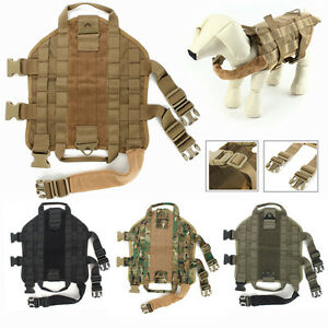 Tactical-DOG-VEST-HARNESS-MOLLE-OUTDOOR-CANINE-CHARGE-Military-Harness-Hot