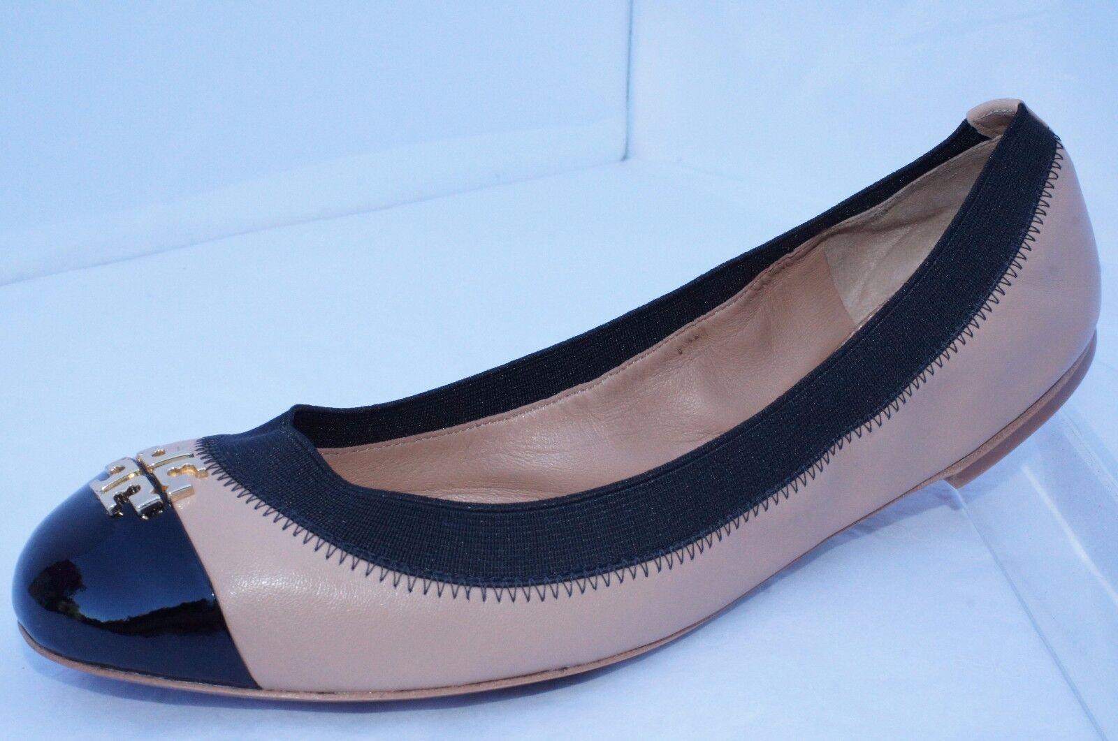 New Tory Burch Jolie shoes Ballet Flats Beigi Size 7.5 Sale Leather Gift
