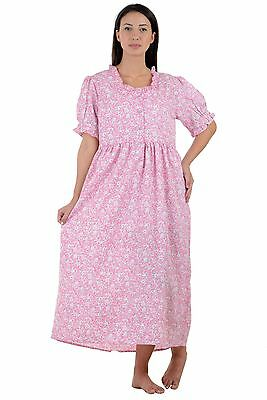 Cotton Lane Wrinkle-resistant Non Iron Printed Nightdress