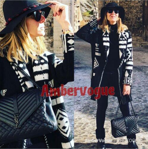 Black Cintura Zara Knit Taglia Jacket New 10 Cardigan M Uk qAaUEZU