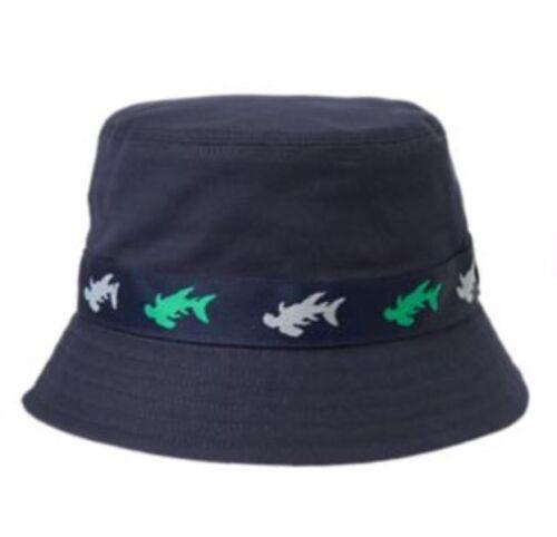 NWT Gymboree Boys Deep Sea Adventure Navy Blue Bucket Hat Shark Boys 6-12 M