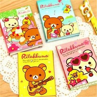 FD922 San-X Rilakkuma 4Fold Sticky Note Sticker Bookmarker Memo Pad Random 1pc A