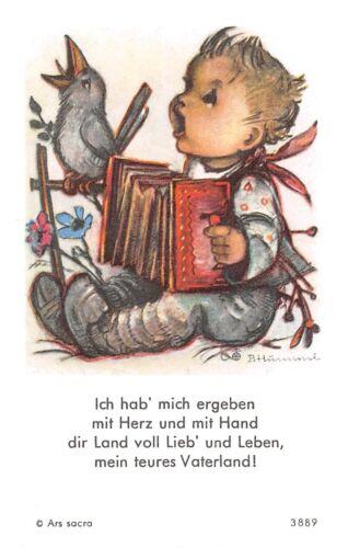 "Seria applicazione terrificanti immagine sacro preghiera immagine pensiero immagine HOLY CARDS Ars Sacra /""h50/""60`s"