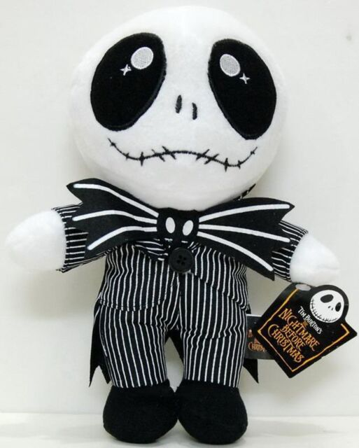 "8"" Nightmare Before Christmas Baby Standing Jack Skellington Plush Doll Top Gift"