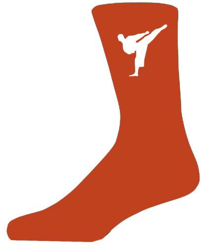 Alta Qualità Calzini Arancione con arti marziali figura bellissimo regalo di compleanno