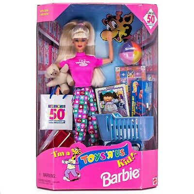 18895 NRFB Barbie 50th Anniversary I/'m A Toys R Us Kid Doll No