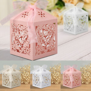 25-50-100Pcs-Love-Heart-Laser-Cut-Wedding-Party-Favor-Box-Gift-Boxes-W-Ribbons