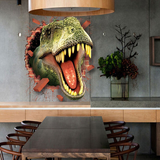 3D  Dinosaur Design DIY Removable Kids Room Wall Stickers Arts Home Decors