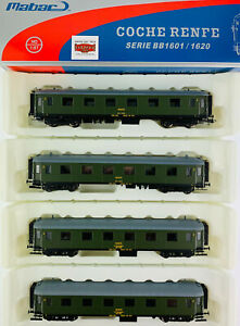 MABAR-H0-81621-2-3-4-LOTE-4-COCHES-RENFE-SERIE-BB1601-2-CL-COMO-NUEVO-TOP