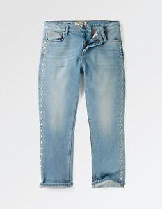 Women/'s Fat Face 98/% Cotton Straight Leg Crop Storm BNWT Denim