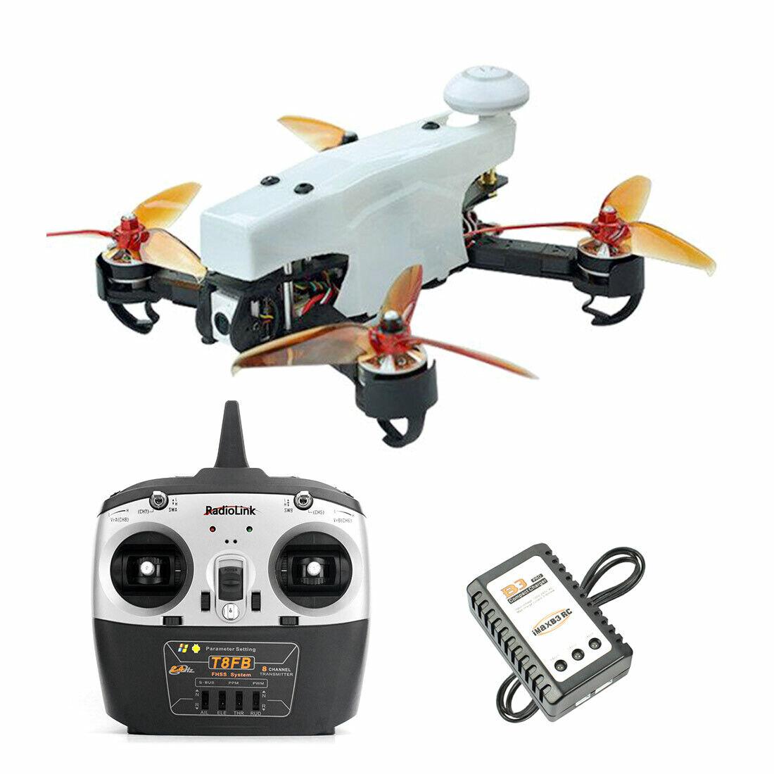 JMT 210 vista en primera persona Racing Drone Cuadricóptero LISTO PARA VOLAR con Radiolink T8FB Tx Rx