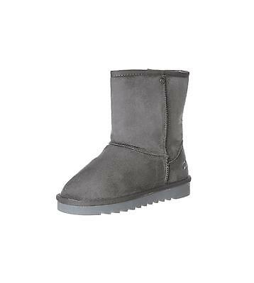 womens diesel short boot grey boots fur lined slip on snug mid-calf  UK 6.5