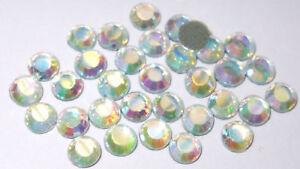 1440-AB-CLEAR-ss10-2-5mm-iron-on-hotfix-quality-rhinestone-diamante-crystal-bead
