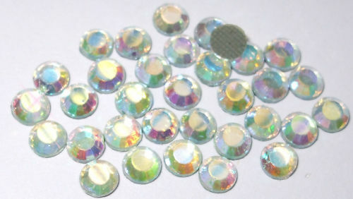 1440 ab clear ss10 2.5mm iron-on hotfix qualité strass diamante crystal bead