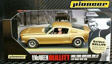 "Pioneer SLOT CAR Steve McQueen ""GOLDEN BULLIT"" Ford Mustang GT 390 Speciale ed."