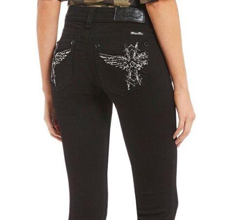 Miss Me Brand New W Tags Cross Wing Emb Black Low Rise Skinny Jeans