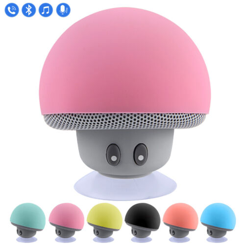 Waterproof Wireless Mini Bluetooth Mushroom Portable Stereo Speaker Music Player