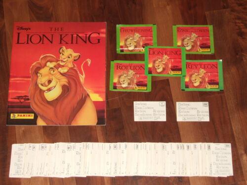 Disney's The Lion King 1994 near-empty Panini album,Complete loose 232 Stickers
