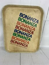 VINTAGE RETRO SiLite BONANZA RESTAURANT SERVING TRAY 18X14 USED COND MAN CAVE