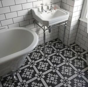 Image Is Loading Tile Samples Belgravia Black Amp White Moroccan Vintage