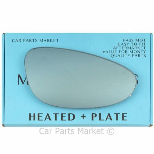 plate Right Blue Convex Wing mirror glass for Porsche carrera 98-04 heated
