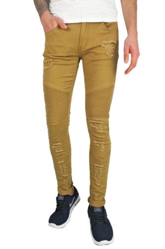 Soulstar Homme Plus fiers Pantalon Chino Créateur Ripped Slim élégant Casualwear