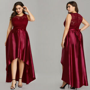 US-Ever-Pretty-Plus-Lace-A-Line-Cocktail-Party-Dress-High-Low-Evening-Prom-Gown